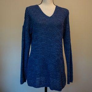 Calvin Klein Jeans Blue Open Knit Sweater Size M